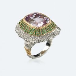 BUCCELLATI-Kunzite-Emeraudes-diamants