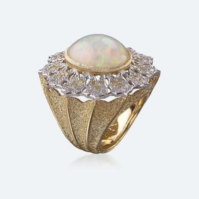 BUCCELLATI-Opale-diamants jaunes-diamants blancs