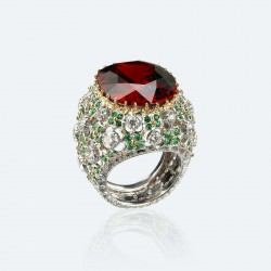 BUCCELLATI-Spessartite-tsavorites-diamants