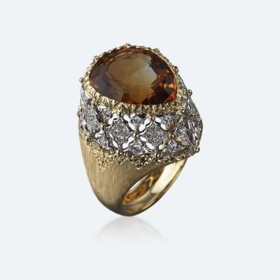 BUCCELLATI-citrine-diamants