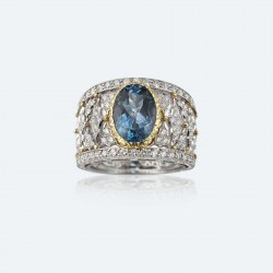 BUCCELLATI-diamants-aigue marine