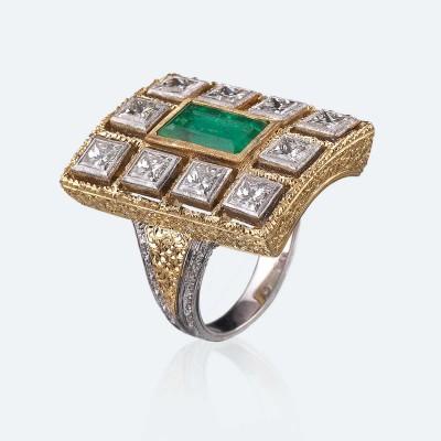 BUCCELLATI-diamants-emeraude