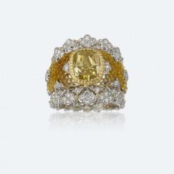 BUCCELLATI-diamants jaunes-diamants blancs