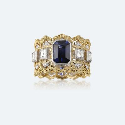 BUCCELLATI-diamants-saphir-or