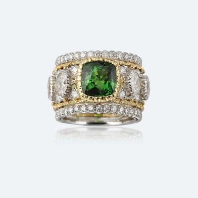 BUCCELLATI-tsavorite-diamants