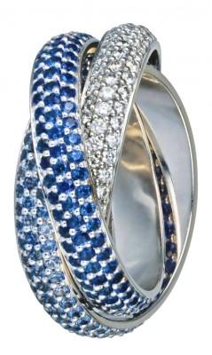 Bague Trinity, saphirs et diamants, Cartier©