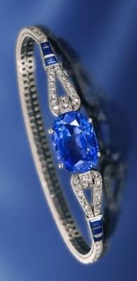 Bracelet Art Deco, saphirs et diamants, Cartier©