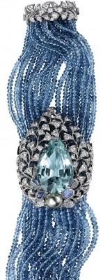 CARTIER-Aigue-maine-diamants- Pierre de lune-perles de Tahiti