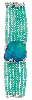 CARTIER-Opale-émeraude-diamants-platine
