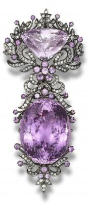 #Brooch #Diamonds #Kunzite