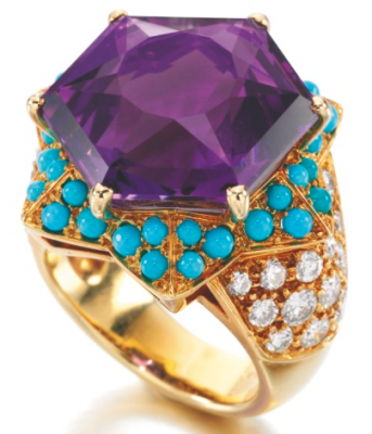 CARTIER- Duchess of Windsor Amethyst, Turquoise and diamond 1989-turquoises-améthyste-diamants