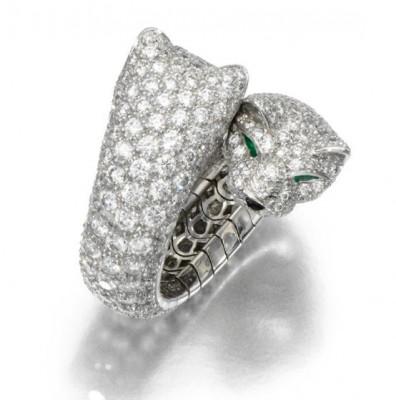 CARTIER-Gem-set-and-diamond-ring-Panthère