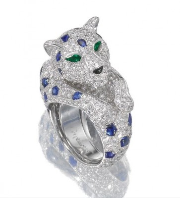 CARTIER-Sapphire-and-diamond-ring-Panthère-panther