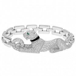 CARTIER-diamond onyx pather bracelet