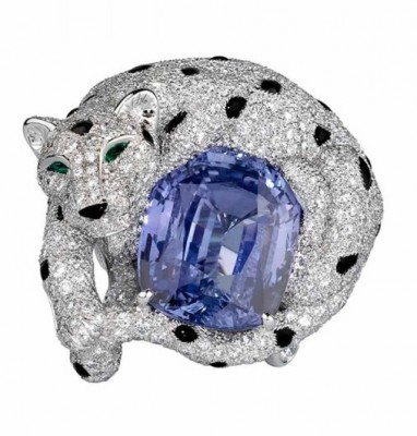CARTIER-panther_ onyx sapphire emerald diamonds ring
