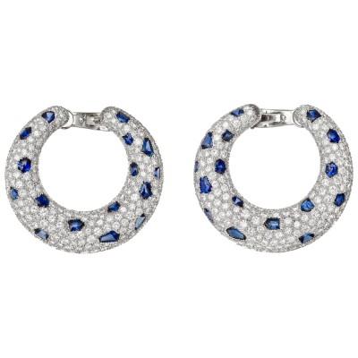 CARTIER-panthere-creole-hoop-earrings-diamond-sapphire