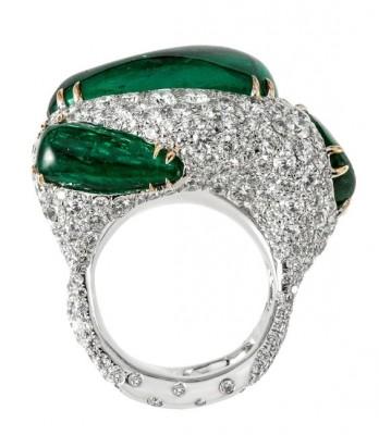 #CINDY CHAO #Emeralds #Diamonds #Ring