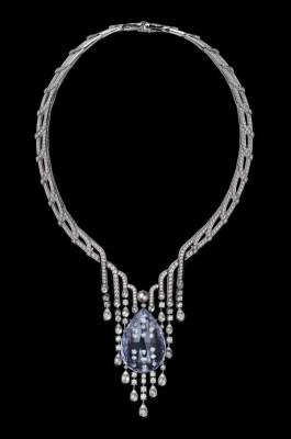COLLECTION  L'ODYSSÉE DE CARTIER PARCOURS D'UN STYLE , collier tourmaline violette, perles naturelles onyx, diamants CARTIER