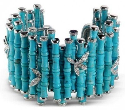 COURTEILLE Lydia-bracelet-turquoise-diamant