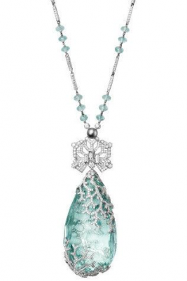 Cartier's new fine jewellery collection gallery - Vogue AustraliaPlatinum necklace set with aquamarine, pearl and diamonds