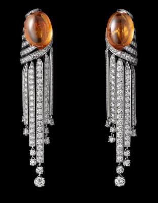Collection Cartier Royal, or blanc, grenat mandarin, onyx et diamants, Cartier©