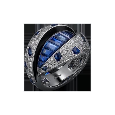 Collection Cartier Royale, saphir, laque noir, diamants platine - Copie