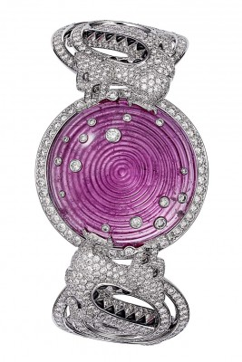 CARTIER-Collection L'Odyssée de Cartier Parcours d'un Style-China-bracelet-platine-rubellite  66.43ct-onyx-diamants