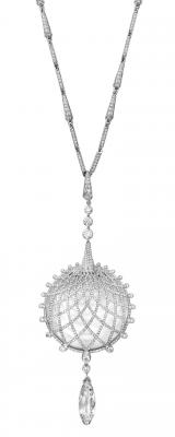 CARTIER-Collier Biennale 2012- or blanc-cristal de roche-diamants