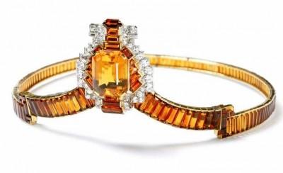 CARTIER-Couronne-citrine-diamants-couronnement de George VI-1937