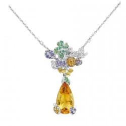 DIOR-Collection Incroyable et merveilleuse-fruit-or blanc-diamants-citrine-saphir jaune-saphir violet-spessartite-emeraude-tsavorite
