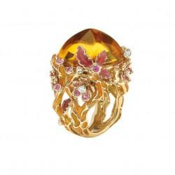 DIOR-Dior Collection Diorella-or jaune-diamants-citrines-saphir roses-laque