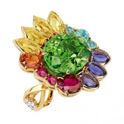 DIOR_ diamants_tourmaline verte_béryls jaunes_iolites_spessartite_rubellite_tourmalines  Paraïba_ spinelles