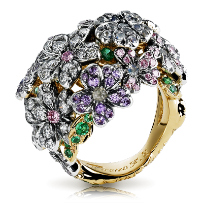 FABERGE-Bague collection Forget me Not-Alexandrite