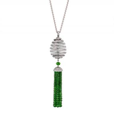 FABERGE-Pendentif-diamants-grenats tsavorites