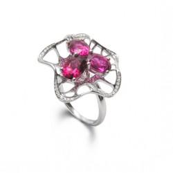 FEI LIU-Bague Cocktail Allure-diamants-Tourmaline rose