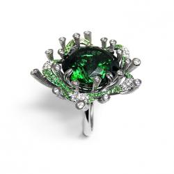 FEI LIU-Bague Starburst-collection Bespoke-tourmaline-diamants