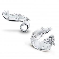 FEI LIU-Bague et Bracelet-Cristal de Roche-collection Bespoke-platine-diamants
