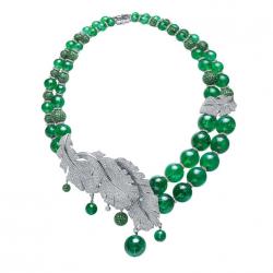 FEI LIU-Collection Bespoke-tourmaline verte-or blanc-diamants-grenats