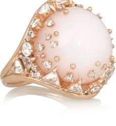 FERNANDO JORGE-Bague Fusion-or rose-opale rose-diamants-topazes