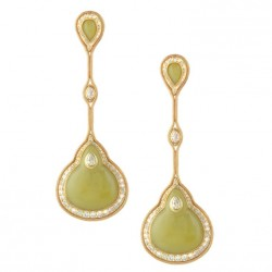 FERNANDO JORGE-Boucles d'oreilles-collection Fluide-serpentine-diamants