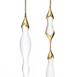 FERNANDO JORGE-Boucles d'oreilles-- quartz laiteux