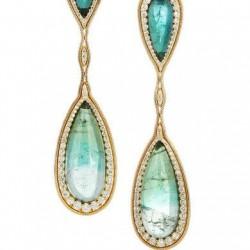 FERNANDO JORGE-Boucles d'oreilles-tourmaline-diamants