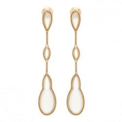 FERNANDO JORGE-Collection Fluide-boucle d'oreille-quartz laiteux