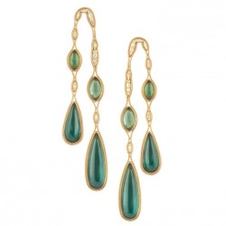FERNANDO JORGE-boucles d'oreilles-collection Fluide-diamants-tourmalines