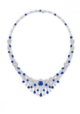 GRAAF-Collection de Haute joaillerie Nuage-collier-diamants-aphirs