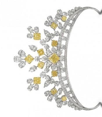 GRAAF-Couronne Graff-diamants blancs-diamants jaunes