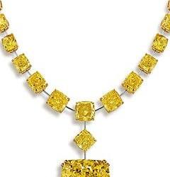GRAAF-collier-diamant jaune Tsarina de  90.14 ct jaune intense-diamants jaunes