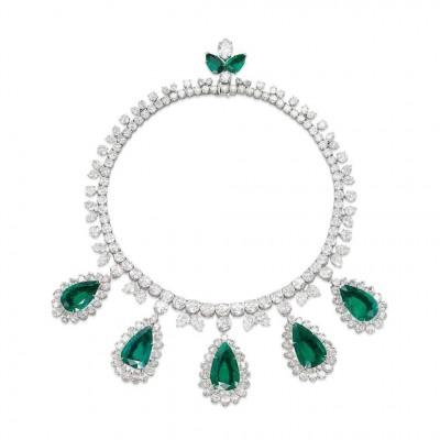 HARRY WINSTON-émeraudes-diamants