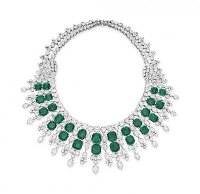 HARRY WINSTON-émeraudes-diamants-collier