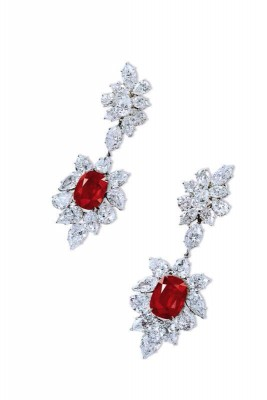 HARRY WINSTON-16.64ct-rubis birmans-diamants